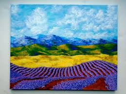 lavender in provence original acrylic painting 16 x 20 by mike kraus
