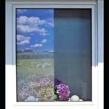 Verspiegelte Fenster Sichtschutzfolie Einseitig Durchsichtig