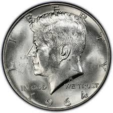 1967 Kennedy Half Dollar Value Chart 1964 Kennedy Half Dollar Values And Prices Past Sales