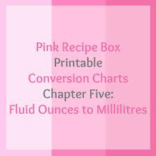 Fluid Ounces To Millilitres Printable Chart