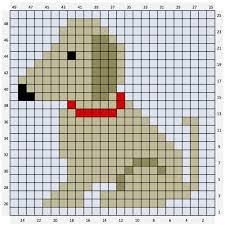 Chart Dog Graph Dog C2c Crochet Chart Free Download Crochet Dog Patterns