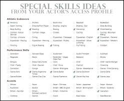 List Of Skill For Resume List Of Skills For Resume Examples On