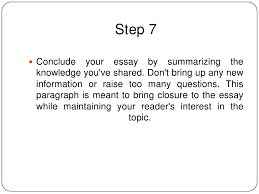How To Write A Conclusion For An Essay Conclusions For Essay