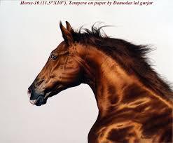 horse head painting by damodar gurjar by dlgurjar