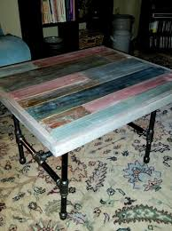 diy pallet iron pipe. Recycled Pallet End Table With Metal Base Diy Iron Pipe