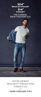 Amazon Co Uk Levis Mens Fit Guide Clothing