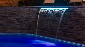 pool waterfall lighting. Exciting LED Style In A Classic Waterfall Pool Lighting G