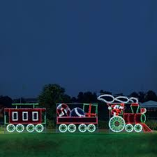 holiday lighting specialists 10 ft animated santa s train outdoor christmas decoration with led multicolor multi