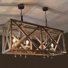 wood chandelier lighting ideas