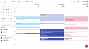 one of the most helpful features of the new google calendar layout is the day view which now separates shared calendars into separate columns