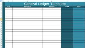 Simple General Ledger General Ledger Template Excel Debit Credit Simple Teran Co