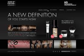 makeup forever hd plexion starter kit uk microsite that featured a custom shade finder and encouraged women to upload their photos and pete