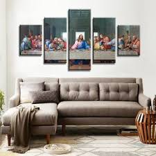 image is loading the last supper canvas wall art prints hd  on religious wall art canvas with the last supper canvas wall art prints hd religious jesus christian