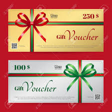christmas gift card templates elegant christmas gift voucher or gift card template with shiny