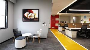Image Office 365 Architectural Digest India The Noida Office Of This Media House Reflects Vibrant Colours