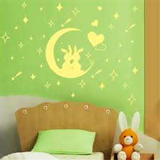Glow in the dark moon wall sticker images home wall decoration ideas glow  in the dark