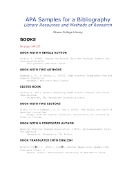 Annotated Bibliography Example Templates   Download Free Forms