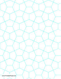 One Inch Graph Paper This Blue Graph Paper Has Pentagon Shapes That Are One Inch Tall