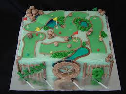 Mini Golf Cake Cakescupcakes Golf Birthday Cakes Cake Golf