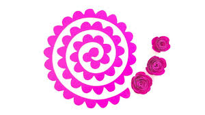 Pattern For Paper Flower Paper Rose Template