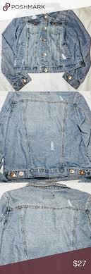 Ci Sono Distressed Denim Jacket My Posh Closet Pinterest
