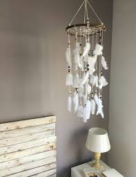 Dream Catcher For Baby Room Mesmerizing Coral Mint Gray Baby Mobile Dream Catcher Mobile Boho Feather