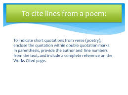 Ppt Citing Poetry In Mla Style Powerpoint Presentation Id2104973
