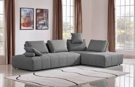 Stylish design furniture Malaysia Image Thenomads Home Design Ideas Divani Casa Edgar Modern Grey Fabric Modular Sectional Sofa