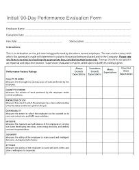 Employee Evaluation Checklist Template Assessment Sheet Work