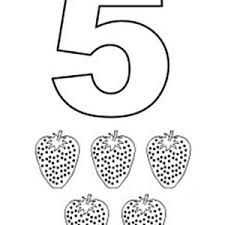 Small Picture Learn Number 5 with Five Stars Coloring Page Bulk Color