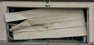 Image result for crashed in garage door