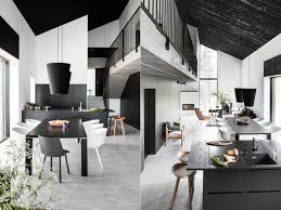 white dining table set. White Saddle Mixed Light Brown Wooden Table Modern Black Dining Set Small Ball Combined Dark Chairs Green Scandinavian Style