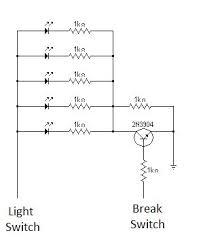 led running brake light circuit for motorcycle break lights bmp