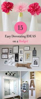 15 easy diy home decorating ideas on a