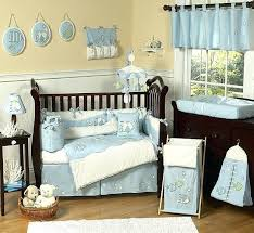 ocean crib bedding designer blue white sea ocean fish theme baby boy crib bedding comforter set