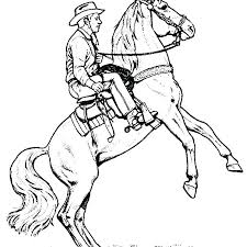 Free Printable Cowboy Coloring Pages Proandroidinfo