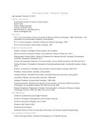 Curriculum Vitae: Steven R. Corman