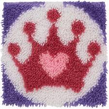 wonderart latch hook kit 12 u0022x12 u0022 princess crown