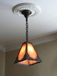 craftsman slag pendant light fixture early style outdoor lighting