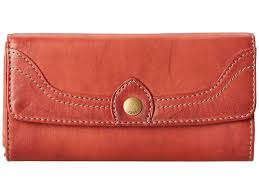 women s accessories frye db983 campus large leather wallet clutch burnt red