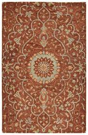 area rug from chancellor collection in brick by kaleen
