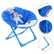 costway set of 4 kids saucer chair moon chair folding round seat with animal prints 1