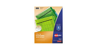 Avery 11901 Template Avery 11901 Big Tab 8 Tab Insertable Multi Color Plastic Dividers