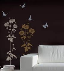 astounding home trends and also flower wall stencil gallery home wall decoration ideas