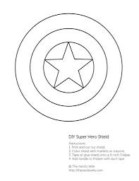 Captain America Shield Coloring Page 90 With Pages