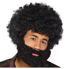 Black Afro Beard Party City