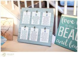 Beach Wedding Seating Chart Creative Beach Themed Table Seating Chart For Brandon And