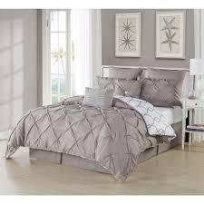 duck river esy pintuck reversible taupe 8 piece queen comforter set
