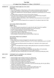Sports Management Resume Samples Manager Sports Resume Samples Velvet Jobs 18