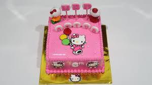 Hello Kitty Cake Cara Membuat Kue Ulang Tahun Kue Ultah Sederhana